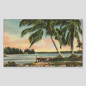 Vintage Coconut Palms Sticker