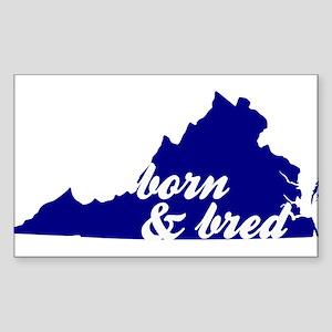 Born & Bred Sticker (Rectangle)