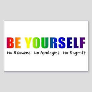 Be Yourself (Rainbow) Sticker (Rectangle)