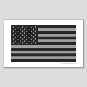 Gray Tactical American Flag Sticker (Rectangle)