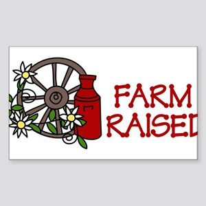 Farm Raised Sticker (Rectangle)