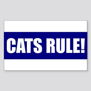 Cats Rule! Rectangle Sticker