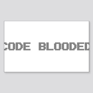 Code Blooded Sticker (Rectangle)