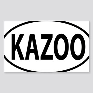 kazoo oval Sticker (Rectangle)