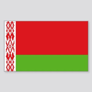 Belarus flag Sticker (Rectangle)