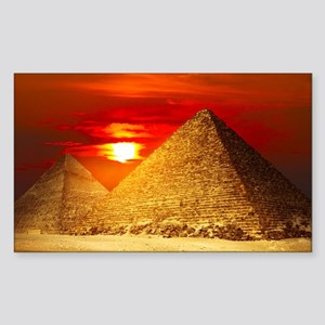 Egyptian Pyramids At Sunset Sticker