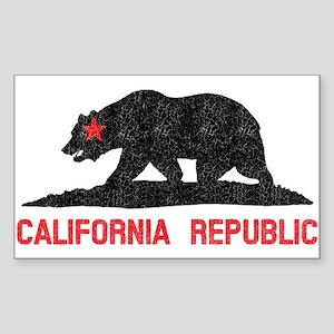 California Republic Grunge Bea Sticker (Rectangle)