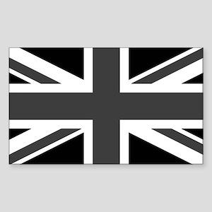 Union Jack - Black and White Sticker