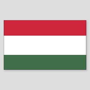 Flag of Hungary Sticker (Rectangle)