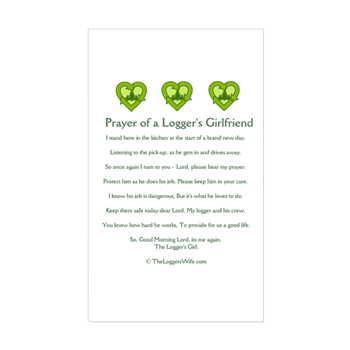 Prayer loggers girlfriend sticker rectangle prayer of a prayer loggers girlfriend sticker rectangle altavistaventures Image collections
