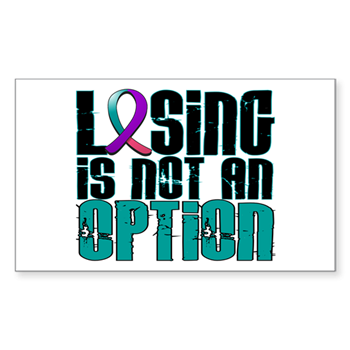 Losing Is Not An Option Thyroid Cancer Decal Losing Is Not An