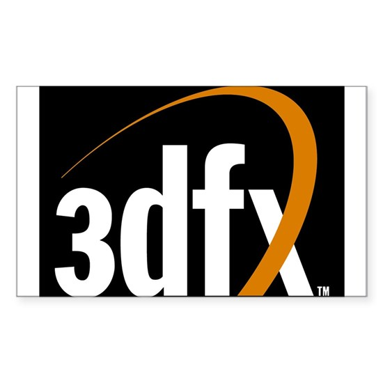 3dfx Interactive Inc Corporate Logo Sticker Rectangle 3dfx Interactive Inc Corporate Logo Sticker Recta By Listing Store 79837243 Cafepress