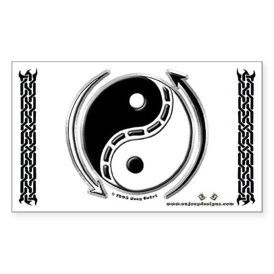34yinyang_1000x600 Sticker (Rectangle) Yin Yang