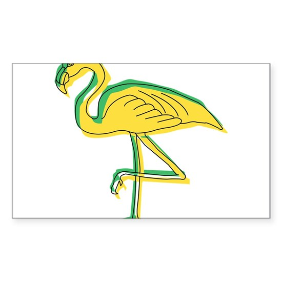 Neon Yellow Flamingo