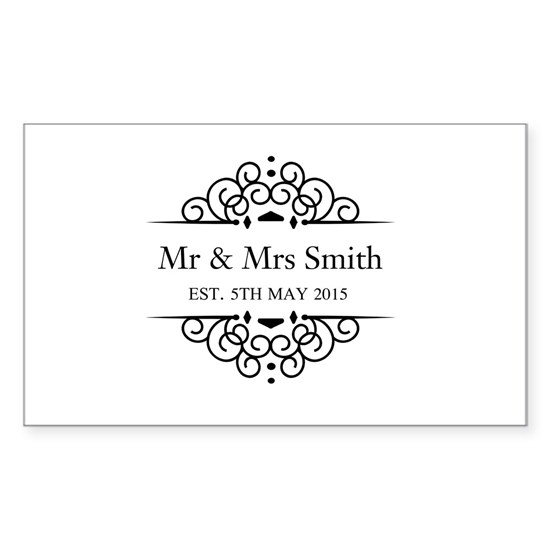 Custom Couples Name and wedding date