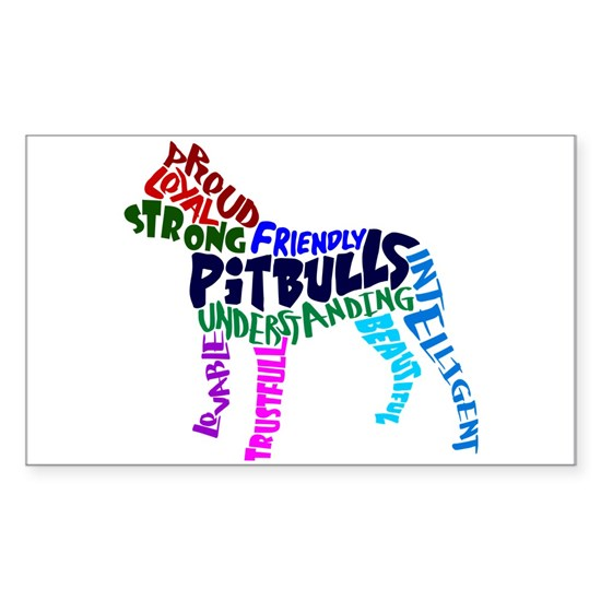 Pit Bull Word Art Multicolor