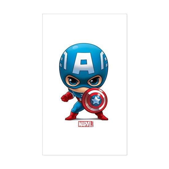 70b7eca21ea648 Chibi Captain America Sticker (Rectangle) Chibi Captain America ...