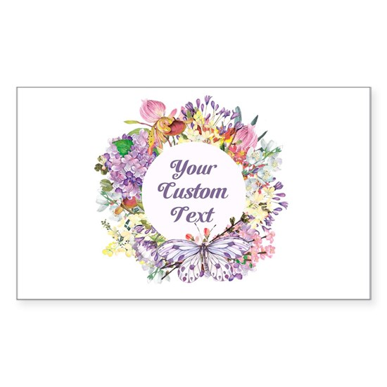 Custom Text Floral Wreath Mothers Day