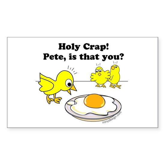 Holy Crap Pete Chick Egg Cartoon Round