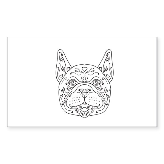 French Bulldog Head Mandala