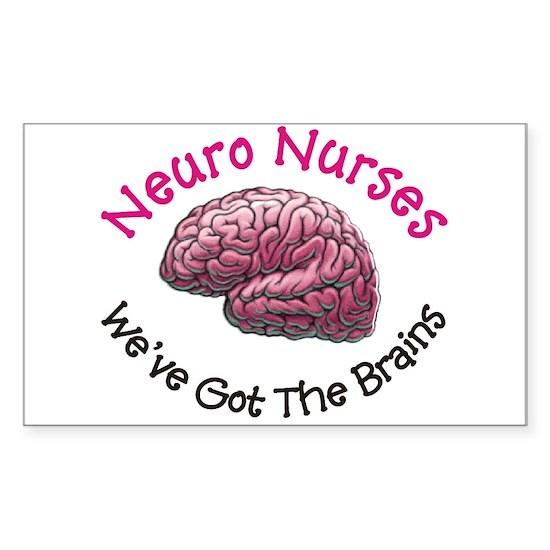 Neuro Nurse Sticker (Rectangle)