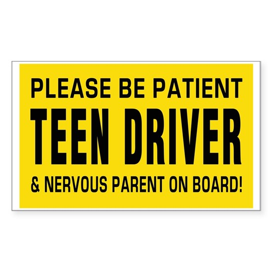 Teen Driver and parent on board Big Magnet