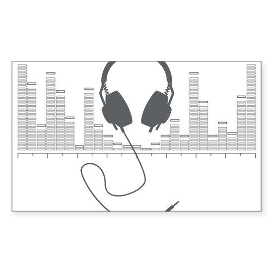 Headphones with Audio Bar Graph in Grey