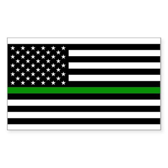 U.S. Flag: The Thin Green Line