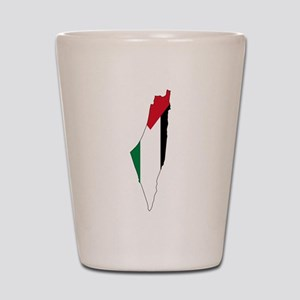 Palestine Flag and Map Shot Glass