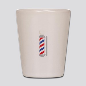 Barber Shop Pole Shot Glass