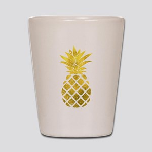 Faux Gold Foil Pineapple Shot Glass