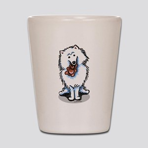 Eskie Samoyed Lover Shot Glass
