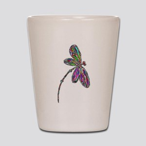 Dragonfly Neon Shot Glass