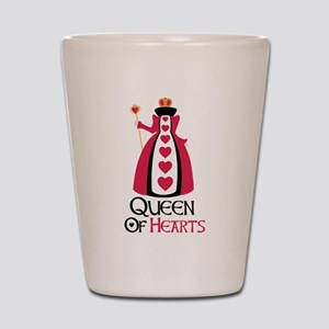QUEEN OF HEARTS Shot Glass