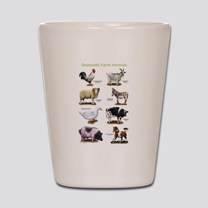 Domestic Farm Animals Shot Glass