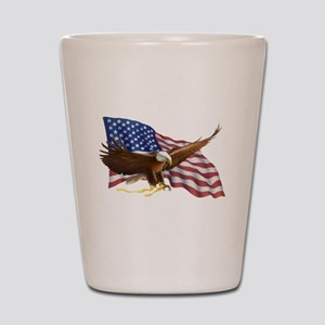 American Flag and Eagle Shot Glass
