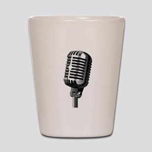 Isolated Stage Mic Shot Glass