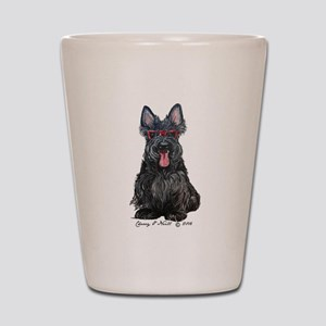Summer Scottie Shot Glass