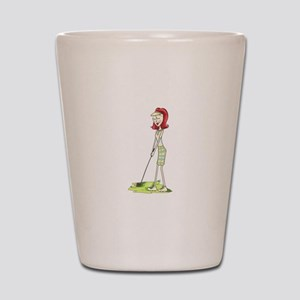 Lady Golfer Shot Glass