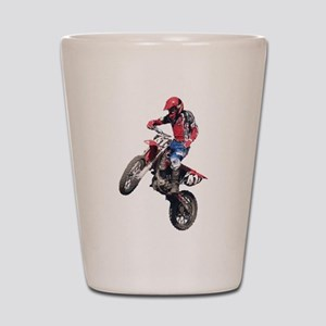 Red Dirt Bike Shot Glass