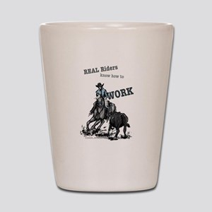 Real Western Cutting Horse Shot Glass