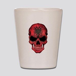 Albanian Flag Skull Shot Glass