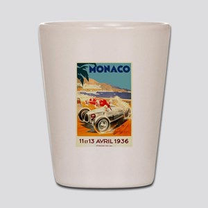 Antique 1936 Monaco Grand Prix Auto Race Poster Sh