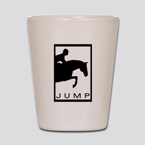 """JUMP"" Hunter Jumper Shot Glass"