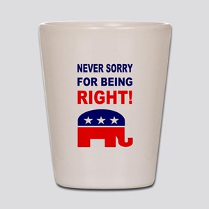 Never Sorry For Being Right Shot Glass