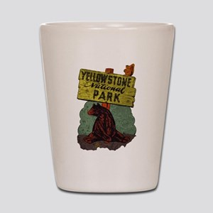 Vintage Yellowstone Shot Glass