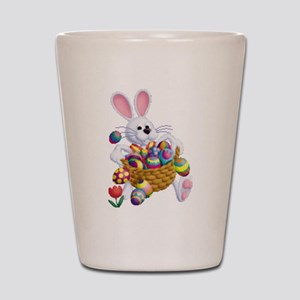 Easter Bunny with Basket of Eggs Shot Glass