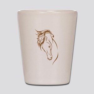 Line Art Horse Head Shot Glass
