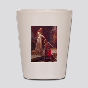 Knight and His Queen Victorian art Shot Glass