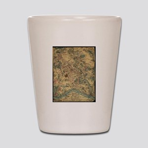 Vintage Antietam Battlefield Map (1862) Shot Glass